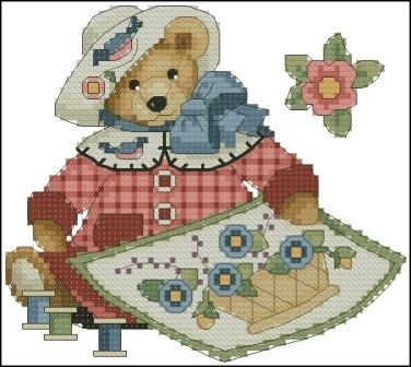 Dimensions 00290 Sewing Bear